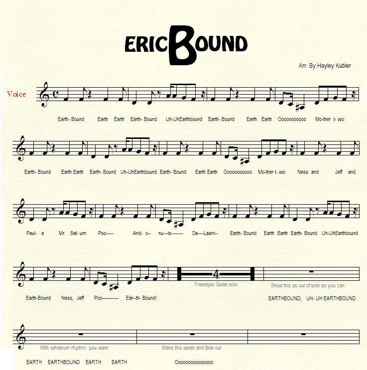 All Music Chords crazy sheet music : STARMEN.NET - EarthBound / Mother 3 Goodness.