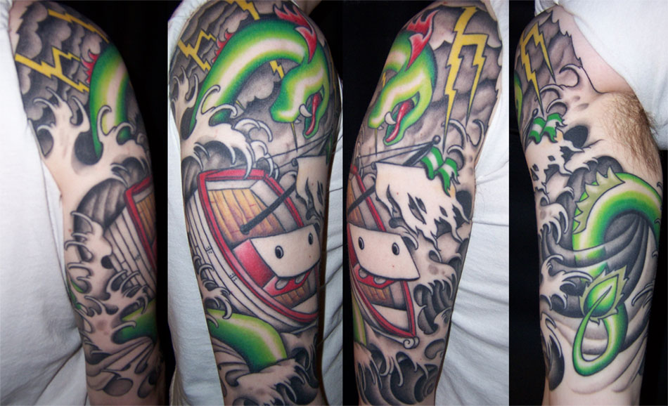half sleeve tribal tattoo ideas. Half Sleeve Tribal Tattoo
